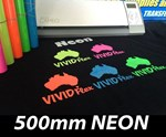 NEON 500mm Vivid Flex Heat Transfer Vinyl per metre