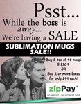 2 Boxes Sublimation Mugs 48 per carton in White Gift Boxes NO Styrofoam