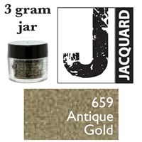 Pearl Ex Mica Powdered Pigments - 3g bottles - ANTIQUE GOLD 659