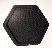 Hexagon Plain Plastic Garden Mould 400x400x40mm CM 6014