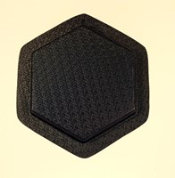 Hexagon Plain small  Plastic Garden Paver Mould 275mm x 40mm