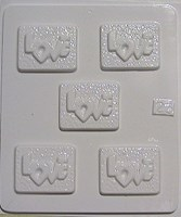 Chocolate Mould 23 - Love bars