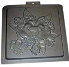Floral Square Wall Plaque Mould CM 6054