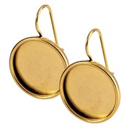 Earring Large Circle Antique Gold