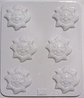 Chocolate Mould 35 - Sun Faces
