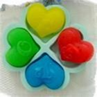 R0238 Soap Silicone Mould - Small Hearts (4)