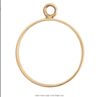 Open Frame Large Circle Single Loop Antique Gold Packet of 3