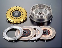 Toyota JZA80 Supra TR2CD twin-plate clutch by OS Giken