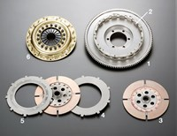 Mazda SA22C RX7 series 1-3 TS2B twin-plate clutch by OS Giken