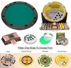 Round POKER TABLE Top & Chips Set Combo Texas Hold'em Pack