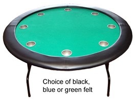 "52"" Round Texas Hold'em POKER TABLE with Deep Steel Drink Holders inc Free Cover"