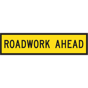 Road Work Ahead Sign Corflute C1 Reflective
