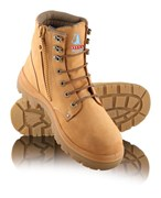 Steel Blue Argyle Zip Side Lace Up Safety Boot
