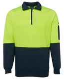HI VIS 1/2 Zip Fleecy