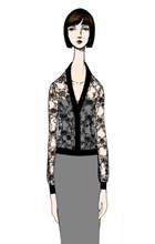 Lorelai Williams Lace Cardigan in Black