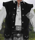 LEATHER CHIEFTAIN WAISTCOAT - Double Flaps