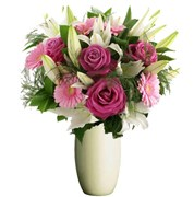 Gerbera, Rose, and Lilies, From $55