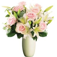 Pastel  Pink Lilies & Roses, From $55