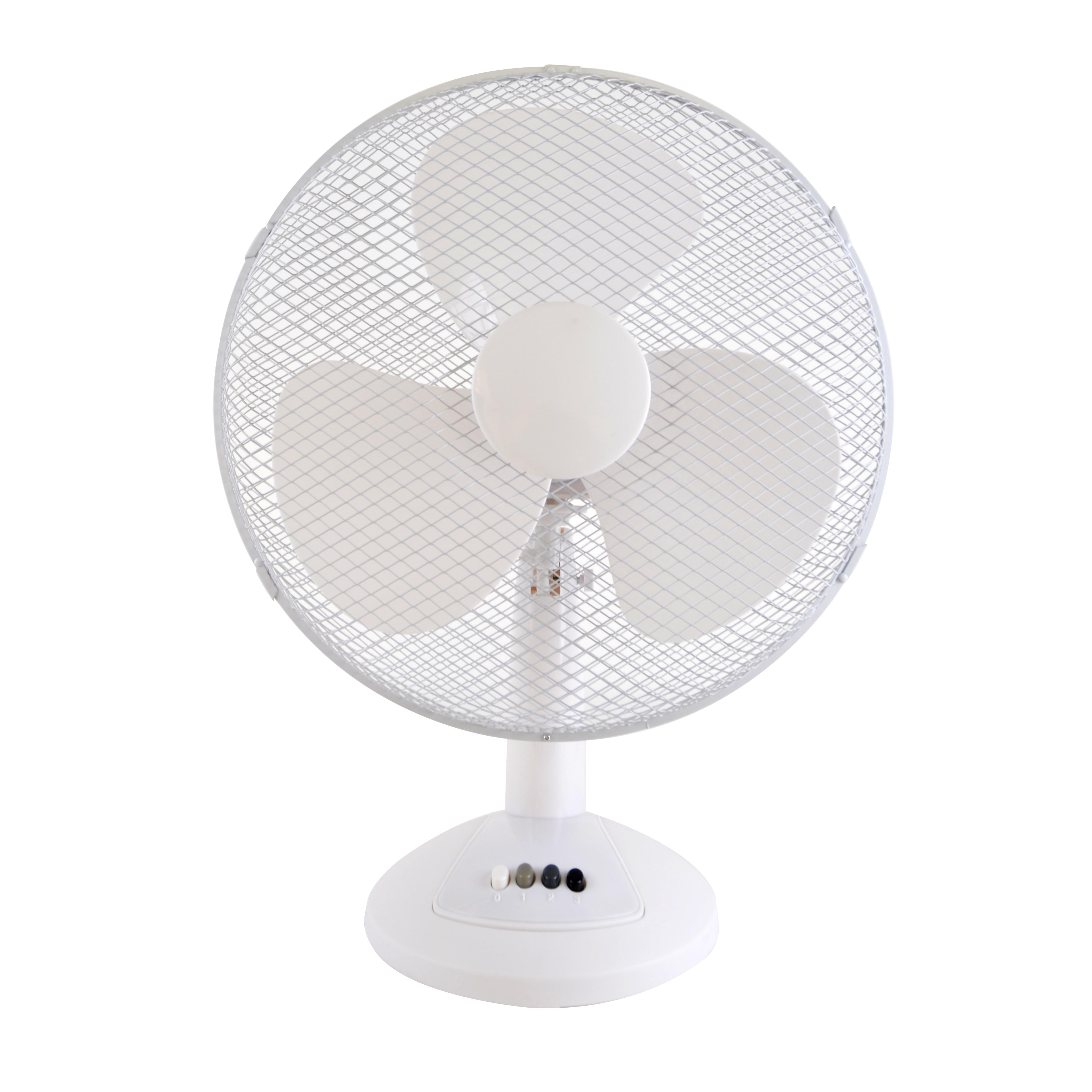 Lloytron STAY COOL 16 inch (40cm) 50w Desk Fan White Luggage Bags  #46475E