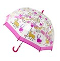 Bugzz Kids Pink Pony Clear Dome Umbrella