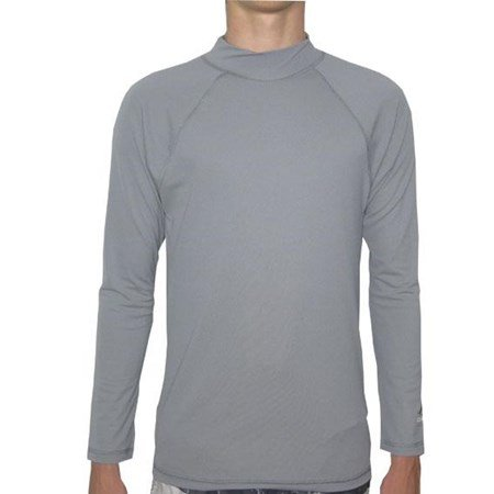GREY LONG SLEEVE SWIM SHIRT