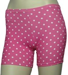 PINK SPOTTY BOY LEG SWIM SHORTS - YOUTH