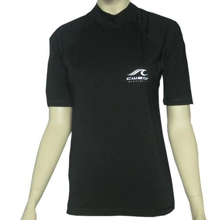 BLACK SWIM SHIRT - S - L