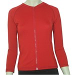 LADIES ZIP SWIM JACKET - RED