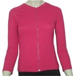 LADIES ZIP SWIM JACKET - POP PINK