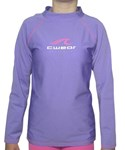 LILAC LONG SLEEVE SWIM SHIRT - SIZE 4 - 6