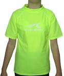 SALE - FLUORO YELLOW SWIM SHIRT - SIZE 2