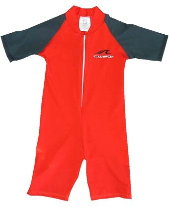 RED SWIMSUIT with CARBON SLEEVES - YOUTH