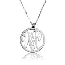 Monogram pendant with chain 3 letters
