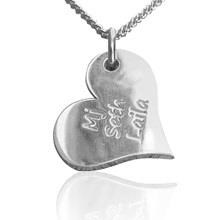 Curvy Heart Pendant with chain