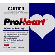 Proheart Blue Dogs Under 22lbs (10kg) - 6 Tablets