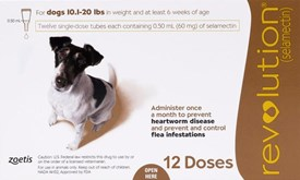 Revolution Brown Dogs 10-20lbs (5-10kg) - 12 Pack