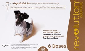Revolution Brown Dogs 10-20lbs (5-10kg) - 6 Pack