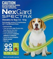 Nexgard Spectra  Medium 16 - 33 lbs (7.5 - 15 kg) - 3 pack