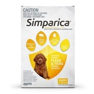 Simparica for Dogs 2.8-5.5 lbs (1.3-2.5 kg) - 3 Pack