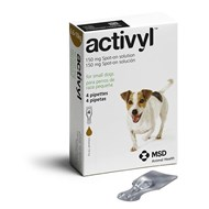 Activyl Spot-On for Small Dogs 14-22 lbs (6.6-10 kg) - 4 Pipettes