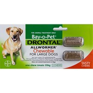 Drontal Chewable Large Dogs - 2 Chews