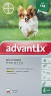 Advantix Dogs Under 4kg 8.8lbs (4kg) - 4 Pack