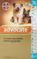 Advantage Multi (Advocate) Dogs 8.8-22lbs (4-10kg) - 6 Pack