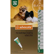 Advocate Dogs Under 4kg 8.8lbs (4kg) - 1 Pack
