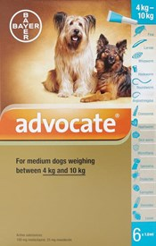 Advocate Dogs 8.8-22lbs (4-10kg) - 6 Pack