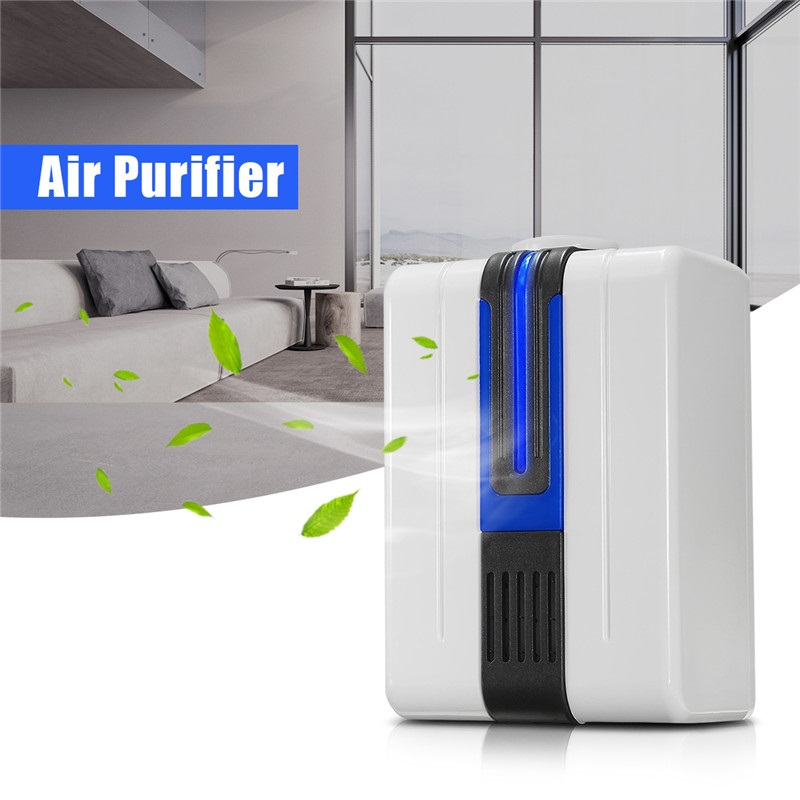 Atlas Air Purifier Wall Plug-in Ionic Air Purifier with Blue Light Cordless