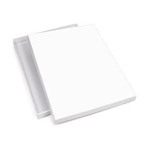 Large White Matt Laminated Photography Box 307 x 254 x 20mm (JUPHWH02)