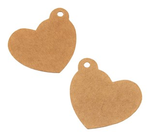 Kraft Heart Shaped Gift Tags (Pack of 50)