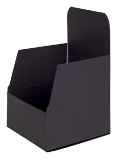 Black Matt Flat-Packed Gift Box 100 x 100 x 50mm (FCBL1A)