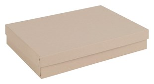Large multi purpose kraft recycled gift box / recycled kraft jewellery box 178 x 128 x 32mm  (KR80)